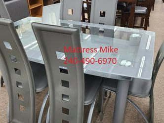 No Credit Needed Gray Color Glass 5 Piece Dining Table Sets for Sale in College Park,  MD