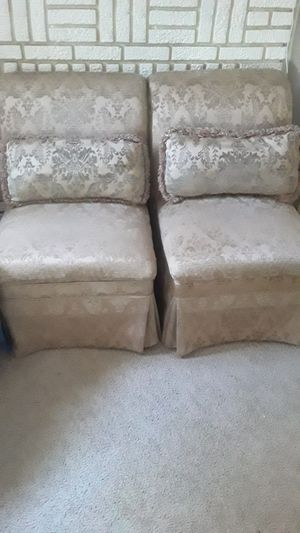 Two sofa gold color for Sale in Cleveland, OH