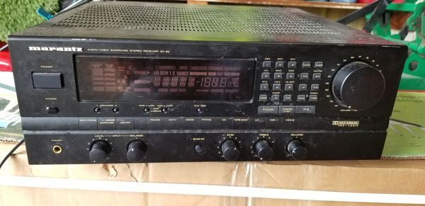 Marantz sr-82 audio video surround stereo receiver
