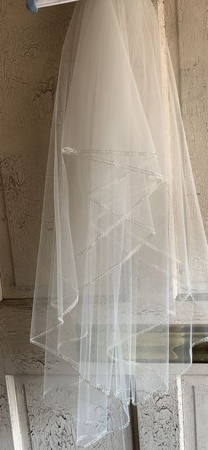 """34"""" Tulle Wedding Veil w Beaded Lining-NEW for Sale in Aurora, CO"""