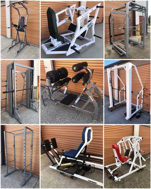 Fitness/ Exercise/ Gym Equipment: Weights Bars, Benches, Dumbbell Squat Racks Sleds Kettle Bells Leg Press for Sale in Davenport, FL