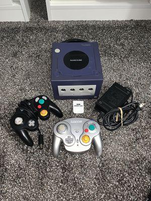 price firm no trades purple gamecube, black controller, wave bird controller (no sensor), power adapter, memory card (no av cable) for Sale in Pickerington, OH