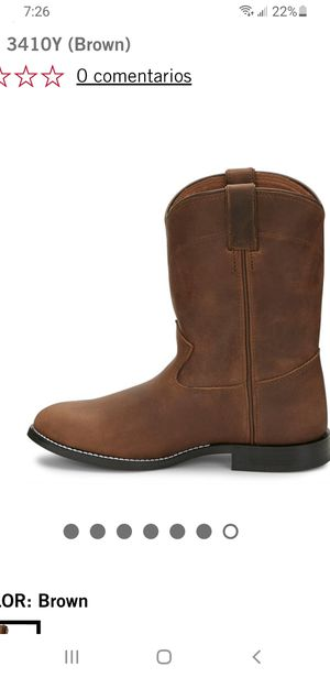 Justin boots 3410Y size 4.5 for Sale in Everett, WA