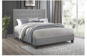 King/Queen grey bed frame for Sale in Doraville, GA