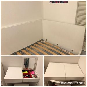 IKEA twin size bed+IKEA Dresser with chair for Sale in Lansdowne, VA