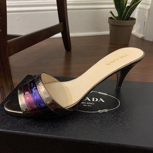 Prada Multi Color Heel Slides for Sale in South Orange, NJ