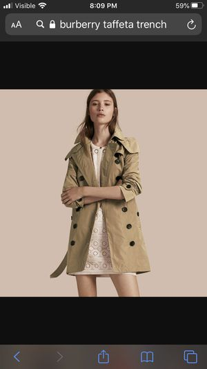 Nwt) Burberry Tafetta Trench coat US 8 size for Sale in Arlington, VA