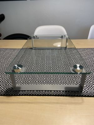Clear Glass Monitor Stand Computer Desktop Riser for Sale in San Diego, CA