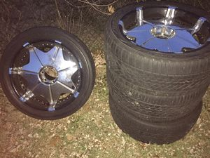 22 inch rims and tires for Sale in Seat Pleasant, MD