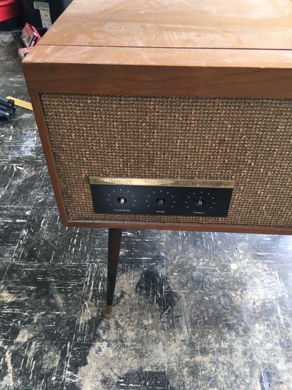 Vintage Columbia Record Player