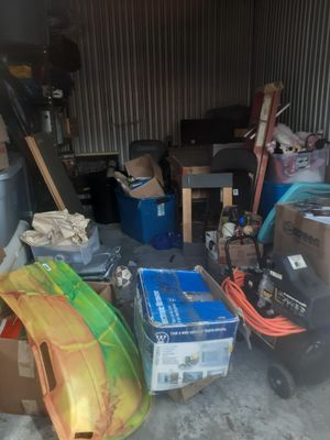 Mostly everything for sale , tools , shelfs , shovels etc storage bin for Sale in Fort Lauderdale, FL
