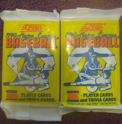 1990 Score (2 Packs) for Sale in San Francisco,  CA