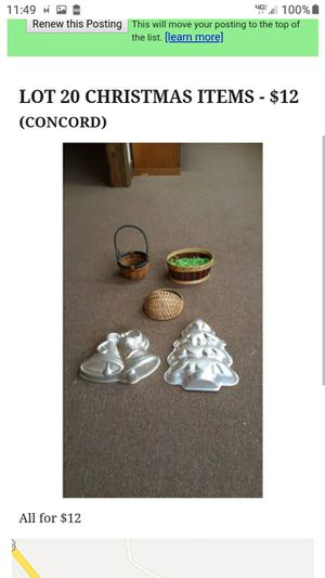 LOT # 20 CHRISTMAS ITEMS for Sale in Lynchburg, VA