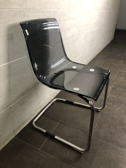 Clear black acrylic chair for Sale in Brooklyn,  NY