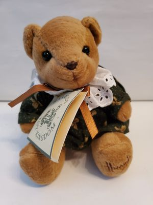 "Harrods Girl Knightsbridge Bear NWT bowtie print dress 6"" plush stuffed toy for Sale in Denver, CO"