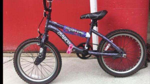 "Girls BMX Street/Dirt Bike With Hand Brake 18"", Purple/Black"