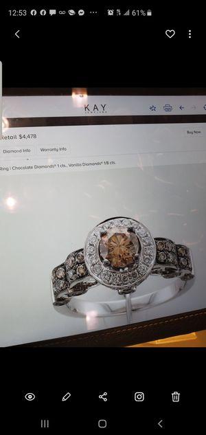 Le vian chocolate diamond engagement ring for Sale in Atlanta, GA