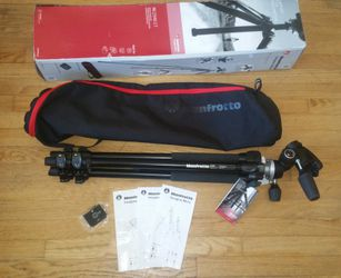 Manfrotto Bogen MK294KIT Professional Tripod. 3-Way Head, Carrying Case, 2 Quick Release Plates. Price Is Firm. for Sale in San Diego,  CA