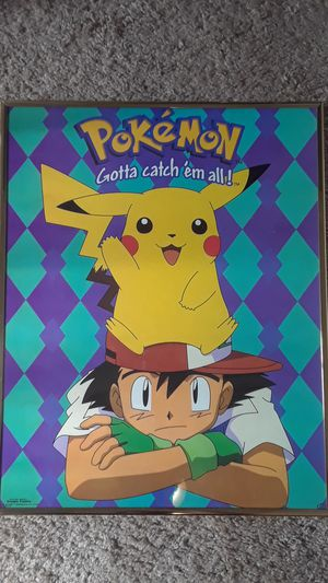 Pokemon poster 1999 for Sale in March Air Reserve Base, CA