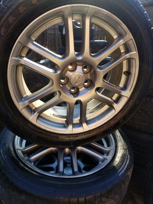 Set of 4used tires and wheels 5lugs size 17 fit scion and Toyota Corolla for Sale in Nashville, TN