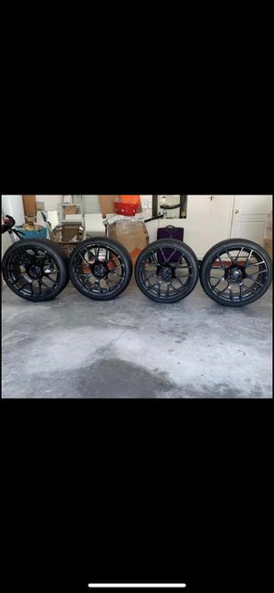 """19"""" TSW Gloss Black rims with brand new Lo-Pro tires. for Sale in Lutz, FL"""