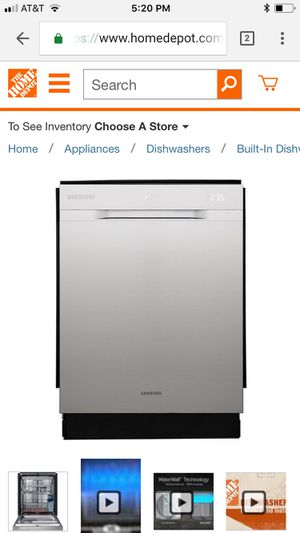 CHEF Collection Top Control Tall Tub Dishwasher in Stainless Steel with Stainless Steel Tub and WaterWall Wash for Sale in La Grange, IL
