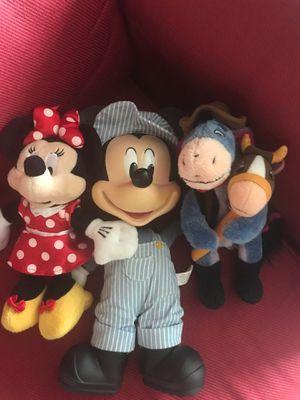 Disney plush toys including Mickey, Minnie, eeyore for Sale in Orlando, FL
