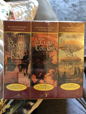 Lord of the Rings Trilogy AUDIOBOOKS (cds) NEW for Sale in Lafayette, CA
