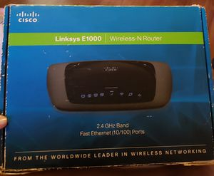 Linksys e1000 wireless-n router for Sale in Downey, CA