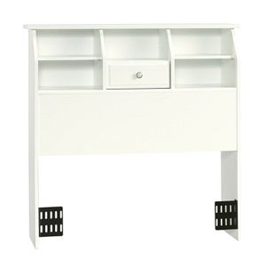 ***ONLY HEADBOARD***Twin Size Bookcase Headboard with Soft White Finish for Sale in Santa Ana, CA