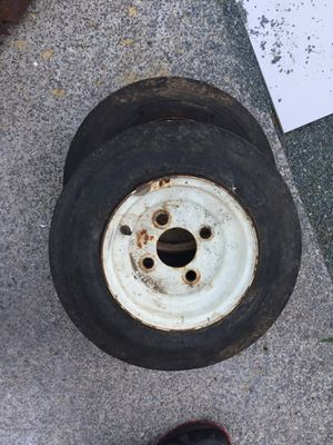 """Pair 8"""" trailer wheels and tires for Sale in Medfield, MA"""