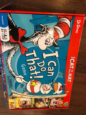 "New Cat in the Hat game ""I can do that"" - preschool Dr Seuss week- homeschool, party game for Sale in Buckeye, AZ"