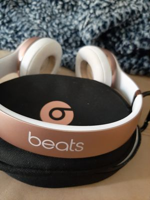 Beats by Dre Solo3 Bluetooth headphones. Cord & case included. Rose gold. for Sale in Millcreek, UT