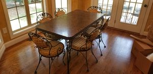Vintage Woodward chantilly rose table with chairs for Sale in Monroe, NC