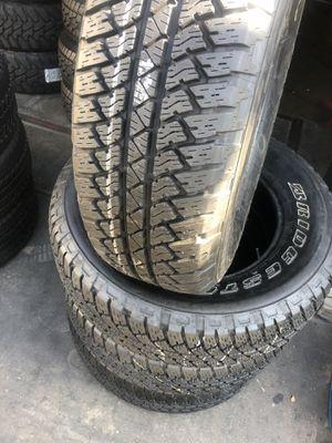 255/70R18 Bridgestone tires semi new (4 for $300) for Sale in Whittier, CA