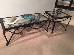New coffee table with one end table showroom sample for Sale in Durham, NC