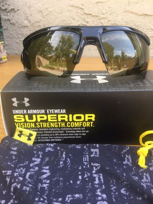 Under Armour Core 2.0 Black Baseball Sunglasses with Game Day Lense for Sale in La Puente, CA