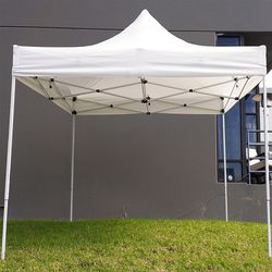 New in box $100 Heavty-Duty 10x10 FT Outdoor Ez Pop Up Canopy Party Tent Instant Shades w/ Carry Bag (White) for Sale in El Monte,  CA