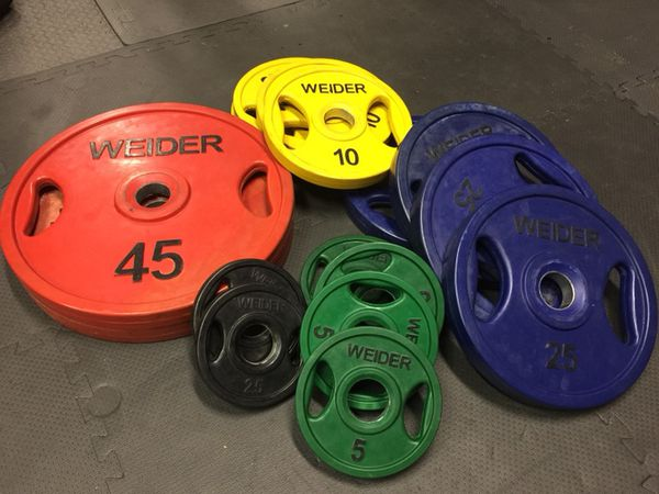 Offer Up San Diego >> Weider Rubber Coated Weights / Color Coded Olympic Plates ...