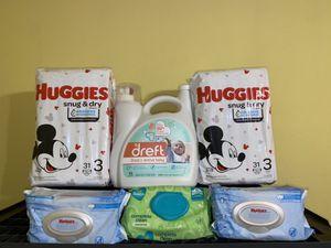 Dreft Huggies Bundle- Size 3 for Sale in Grand Prairie, TX