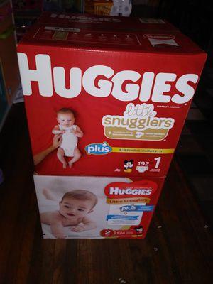 HuGGies size 1 y 2 $ 42 por caja oh cambio por formula Enfamil 12 0z for Sale in Los Angeles, CA