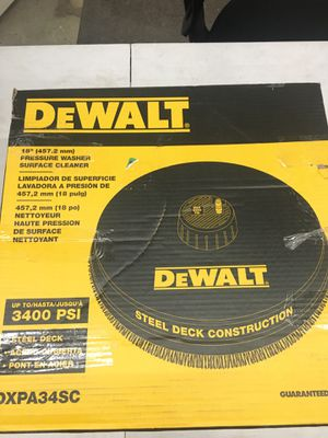 "Dewalt 18"" pressure washer surface cleaner - used once for Sale in Puyallup, WA"