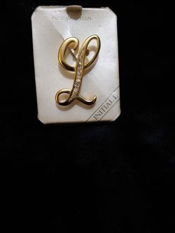 Gold Filled Genuine Australian Crystal Initial Pin for Sale in Duluth,  GA