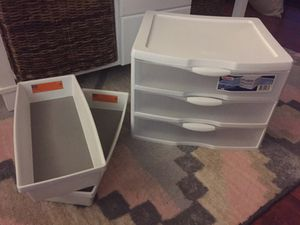 Large Clear White Organization Drawers for Sale in San Diego, CA