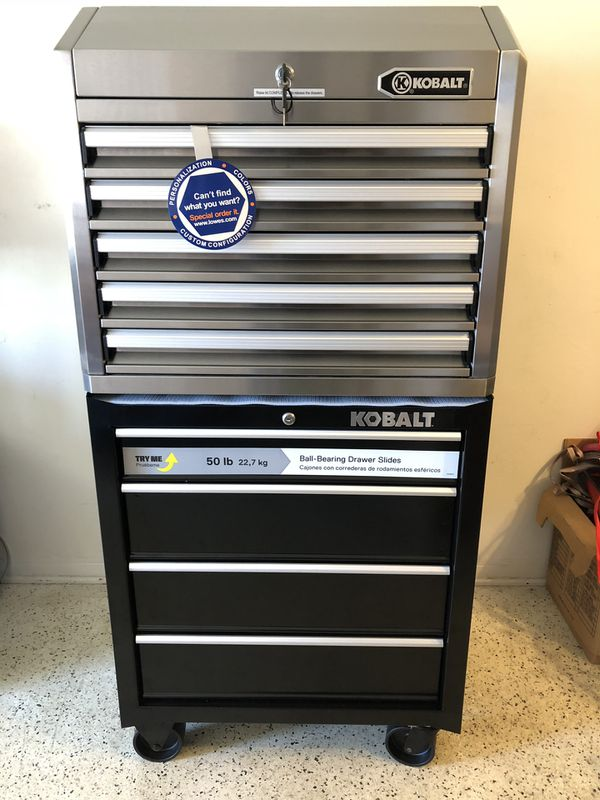Kobalt Tool Cabinet >> Kobalt Tool Cabinet Stainless Tool Chest 27 Tool Box 9 Drawer