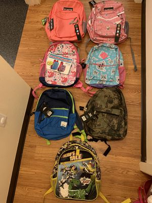 Brand new boys and girls backpacks for Sale in Seattle, WA