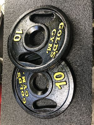 2x10 Olympic Gold's Gym weight plates, 20 pounds total for Sale in Miami Shores, FL