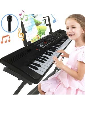 Semart piano keyboard for kids 61 key electric digital music keyboard for beginner portable piano w/LCD display microphone USB cable for Sale in San Diego, CA