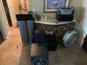 Full Home Theatre System (2 JBL Venue Series, 4 Infinity Surrounds, 2 Infinity R & L, Infinity Center, JBL Venue Subwoofer, Infinity Subwoofer, Onkyo for Sale in Phoenix, AZ