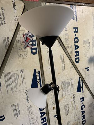 Floor lamp with two light fixtures for Sale in Olympia, WA